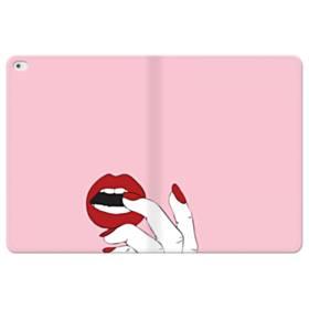 女の子の赤い唇と爪 iPad Pro 12.9 (2015) 合皮 手帳型ケース