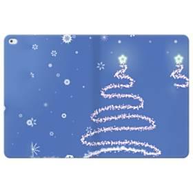 デザイン クリスマス ツリー ブル系 iPad Pro 12.9 (2015) 合皮 手帳型ケース