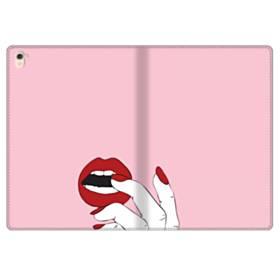 女の子の赤い唇と爪 iPad Pro 9.7 (2016) 合皮 手帳型ケース