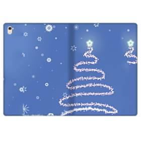 デザイン クリスマス ツリー ブル系 iPad Pro 9.7 (2016) 合皮 手帳型ケース