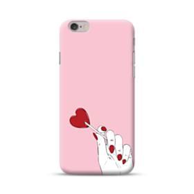 指とハート iPhone 6S/6 ポリカーボネート ハードケース