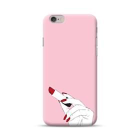 女の子の口紅と赤い爪 iPhone 6S/6 ポリカーボネート ハードケース