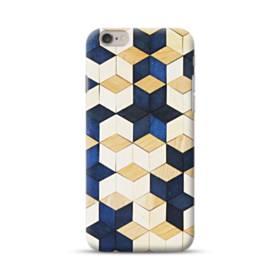 タイル模様・白&紺 iPhone 6S/6 ポリカーボネート ハードケース