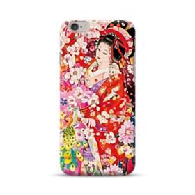 和・花魁&桜 iPhone 6S/6 ポリカーボネート ハードケース