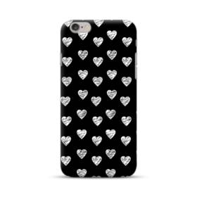 ハートのパターン iPhone 6S/6 ポリカーボネート ハードケース