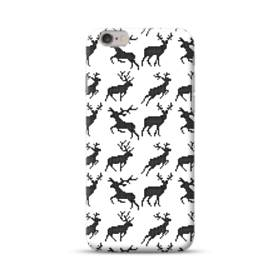 クリスマス デザイン トナカイ パターン iPhone 6S/6 ポリカーボネート ハードケース