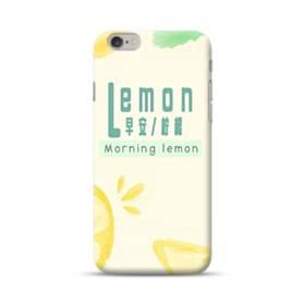 デザイン・漢字&アルファベット:レモン、おはよう。 iPhone 6S/6 ポリカーボネート ハードケース