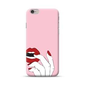 女の子の赤い唇と爪 iPhone 6S/6 ポリカーボネート ハードケース