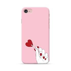 指とハート iPhone 7 ポリカーボネート ハードケース