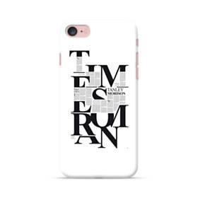 デザイン 白黒系アートなアルファベット iPhone 7 ポリカーボネート ハードケース