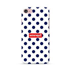 紺のドット&真っ逆になったスーパー ミ(super me) iPhone 7 ポリカーボネート ハードケース