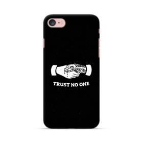 デザイン アルファベット008 trust no one iPhone 7 ポリカーボネート ハードケース