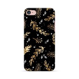 クリスマス デザイン リーフ・モチーフ iPhone 7 ポリカーボネート ハードケース