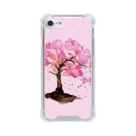 水彩画・桜の木 iPhone 8 TPU クリアケース
