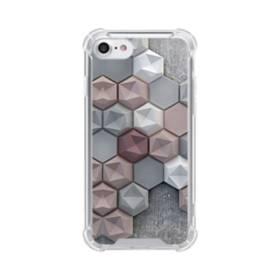 つぶつぶ六角形 iPhone 8 TPU クリアケース