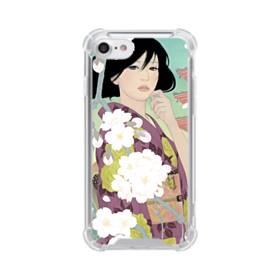 ザ・桜&ジャパンガール! iPhone 8 TPU クリアケース