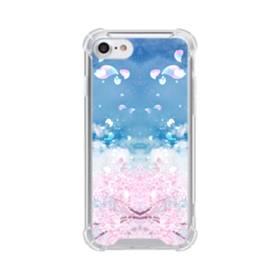 桜の花びら iPhone 8 TPU クリアケース