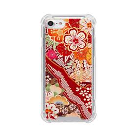 和・花柄 iPhone 8 TPU クリアケース
