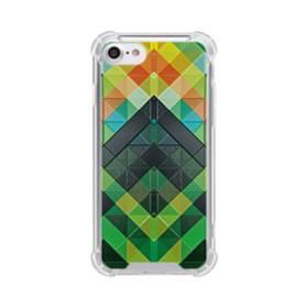 抽象的なモザイクパターン iPhone 8 TPU クリアケース