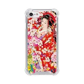 和・花魁&桜 iPhone 8 TPU クリアケース