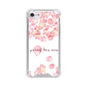 桜&デザイン英文 iPhone 8 TPU クリアケース