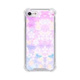 爛漫・抽象的な桜の花 iPhone 8 TPU クリアケース