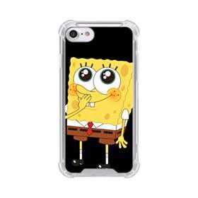可愛いスポンジボブ iPhone 8 TPU クリアケース
