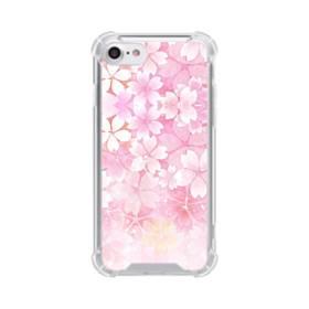 爛漫・ピンク&桜色 iPhone 8 TPU クリアケース