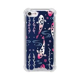 和柄:桜&錦鯉 iPhone 8 TPU クリアケース