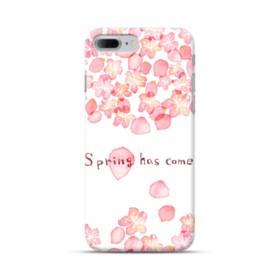 桜&デザイン英文 iPhone 7 Plus ポリカーボネート ハードケース