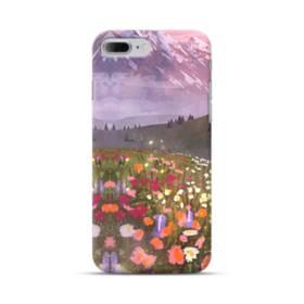 夕暮れのアルプス&野花 iPhone 7 Plus ポリカーボネート ハードケース