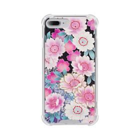 和の花柄 iPhone 7 Plus TPU クリアケース