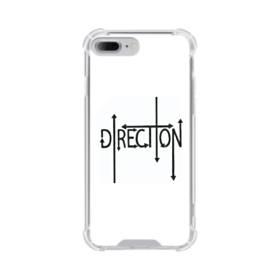"""デザイン アルファベット003、""""direction"""" iPhone 7 Plus TPU クリアケース"""