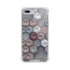つぶつぶ六角形 iPhone 7 Plus TPU クリアケース