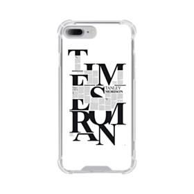 デザイン 白黒系アートなアルファベット iPhone 7 Plus TPU クリアケース