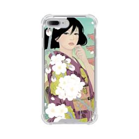 ザ・桜&ジャパンガール! iPhone 7 Plus TPU クリアケース