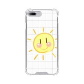 小学校の思い出 格子 お日さま 白 ホワイト かわいい iPhone 7 Plus TPU クリアケース