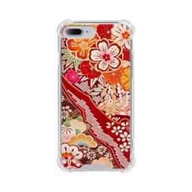 和・花柄 iPhone 7 Plus TPU クリアケース