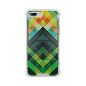 抽象的なモザイクパターン iPhone 7 Plus TPU クリアケース