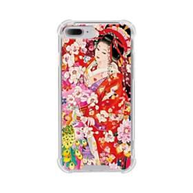 和・花魁&桜 iPhone 7 Plus TPU クリアケース