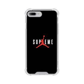 ブラック バスケットボール red  simple  ワンポイント シンプル iPhone 7 Plus TPU クリアケース