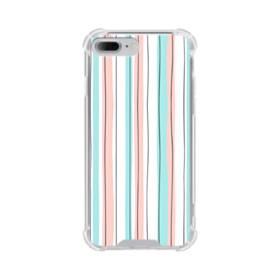 シンプルなパターン(乙女色) iPhone 7 Plus TPU クリアケース