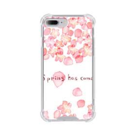 桜&デザイン英文 iPhone 7 Plus TPU クリアケース