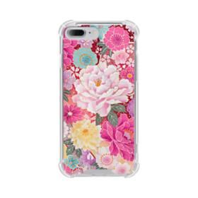 和の花柄:牡丹 iPhone 7 Plus TPU クリアケース