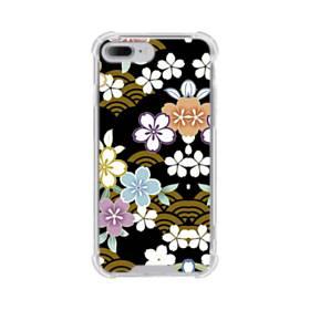 和風・桜&浪 iPhone 7 Plus TPU クリアケース