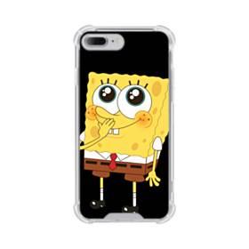 可愛いスポンジボブ iPhone 7 Plus TPU クリアケース