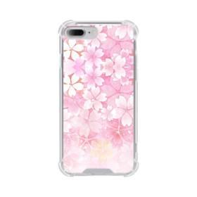 爛漫・ピンク&桜色 iPhone 7 Plus TPU クリアケース