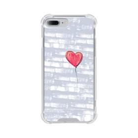 ハートバルーン iPhone 7 Plus TPU クリアケース