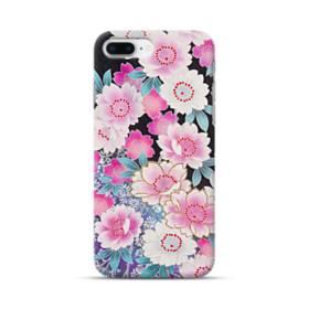 和の花柄 iPhone 8 Plus ポリカーボネート ハードケース