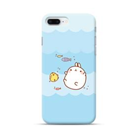 ぽっちゃりウサギ&ヒヨコ iPhone 8 Plus ポリカーボネート ハードケース